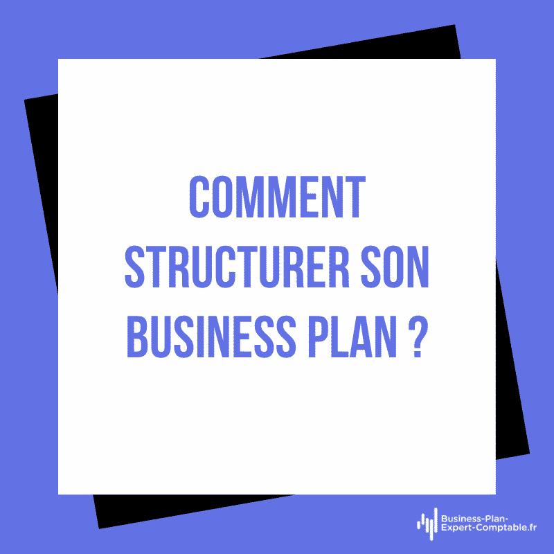 Comment structurer son Business Plan ?